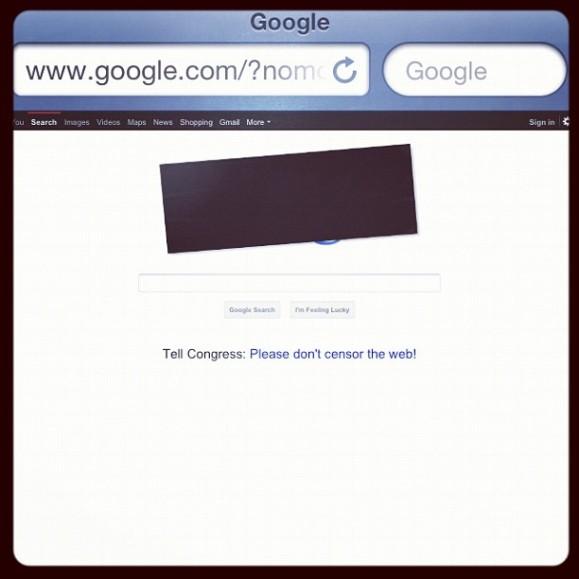 Google Censored for Protest