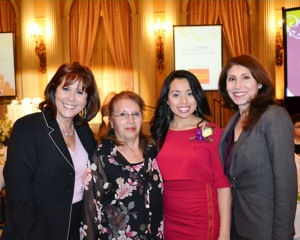B - Teresa Samaniego from KABC7, Dora Carias, Dora Nunez, Corina Villaraigosa from the Montebello School District