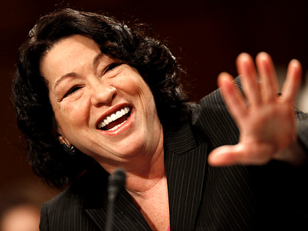 Supreme Court nominee Sonia Sotomayor testifies on Capitol Hill in Washington, Wednesday July 15, 2009, before the Senate Judiciary Committee. (AP Photo/Charles Dharapak)   Original Filename: Sotomayor_Senate_WCAP118.jpg