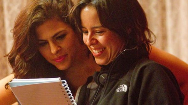 """Girl In Progress"" director Patricia Riggen and Eva Mendes. (Pantelion Films/Bob Akester)"